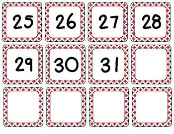 Black & Red Calendar Set