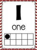 Number Posters {black, red, and white}