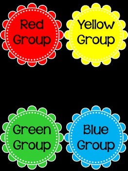 Black, Red, Yellow, and White Classroom Decor