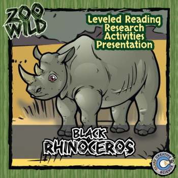 Black Rhinoceros -- 10 Resources -- Coloring Pages, Reading & Activities