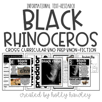 Black Rhinoceros-A Research Project