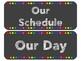 Black Schedule Cards