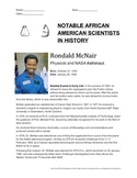 African-American scientists in U.S. history; reading, and discussion questions