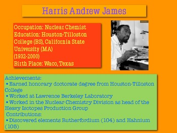 Black Scientists and their Contributions to Science PowerPoint