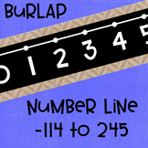 Black Series ~ Burlap Number Line Wall Display ~ -114 to 245