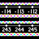 Black Series ~ Neon Dots Number Line Wall Display ~ -114 to 245
