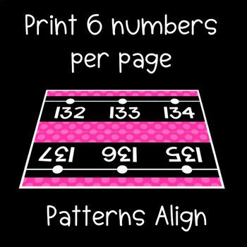 Black Series ~ Neon Pink Number Line Wall Display ~ -114 to 245
