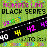 Black Series Number Line Wall Display Bulletin Board