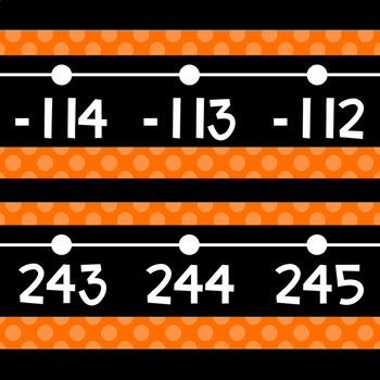 Black Series ~ Orange Number Line Wall Display ~ -114 to 245