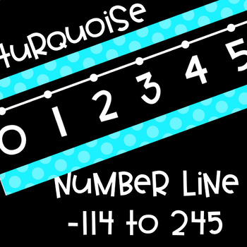 Black Series ~ Turquoise Number Line Wall Display ~ -114 to 245