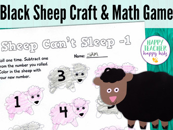 Black Sheep Craft & Math Game: Pre-K, Transitional Kinder, & Kinder
