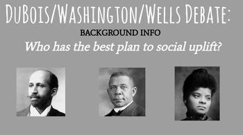 Black Social Uplift Background Info to Debate - DuBois/Washington/Wells