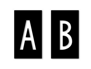 Black Stamped Letters