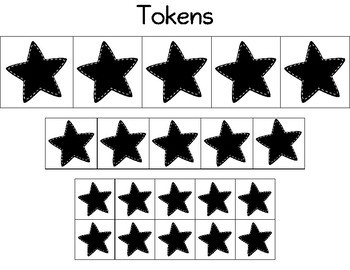 Black Star Token Reinforcer System for Classroom Management