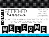 Black Stitched Banners {Editable & Ready to Print}