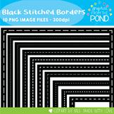 Black Stitched Borders