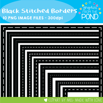 Black Stitched Borders