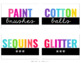 Black Stripe Colorful Classroom Supply Labels (EDITABLE)