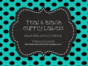 Black & Teal Supply Labels