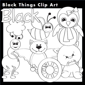 Black Things Clip Art Line Drawing B/W  personal & commercial use