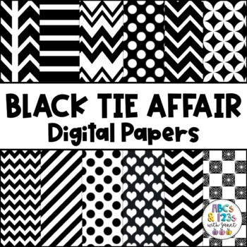 Black Tie Affair Digital Paper Pack FREEBIE