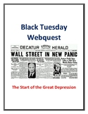 Black Tuesday (Start of Great Depression) Webquest With Key!