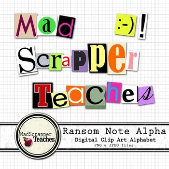 Ransom Alphabet Clipart Digital Clipart Color