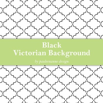 Black Victorian Pattern Background