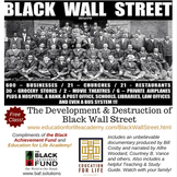 Free Class on Black Wall Street for Black History Month!