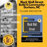 Black Wall Street Community Building Durham NC