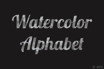 Black Watercolor Alphabet Clip Art Metallic Look 81 PNG Images Letters Numbers
