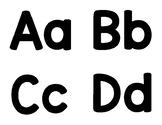Black & White ABC Flash Cards