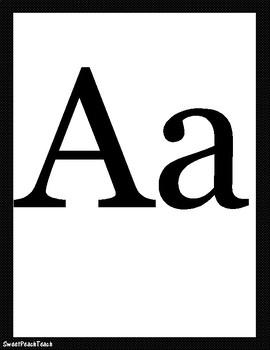 Black & White Alphabet Letters & Nameplates