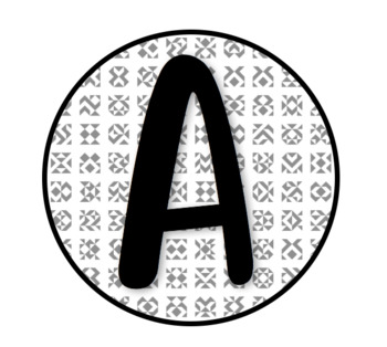 Black/White Alphabet Letters {PRINTABLE!} -- Book Bin Labels!