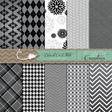 Black & White Backgrounds/Digital Papers