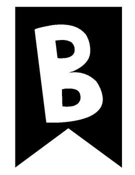 Black & White Banner Letters