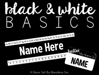 Black & White Basics {A Décor Pack}