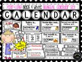 Black & White Bilingual Calendar Set for All Year