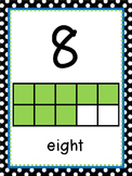 Black, White, Blue, Green Polka Dot Classroom Decor