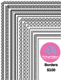Black & White Borders to dress up your pages