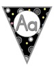 Black White & Bright Alphabet Pennants