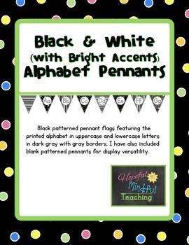 Black White & Bright Alphabet Pennants