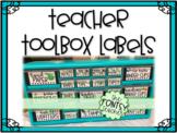 Black, White, Bright, & Editable Teacher Toolbox Labels