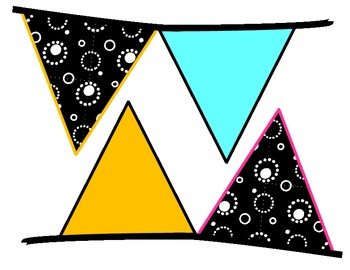 Black & White & Bright Extra Pennants Pack