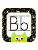 Black & White & Bright OWLS:  Print ABCs