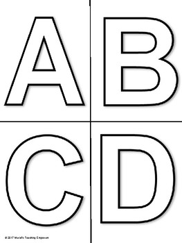 Black & White Bulletin Board Alphabet Letters and Numbers