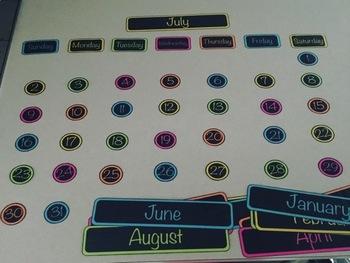 Black & White Calendar for Astrobrights Paper