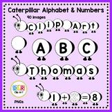 Caterpillar Clip Art - Alphabet & Numbers