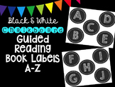 Black & White Chalkboard Round Guided Reading Book Labels A-Z