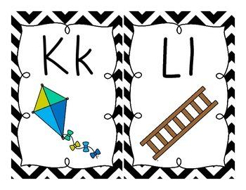 Black & White {Chevron} Alphabet Set!